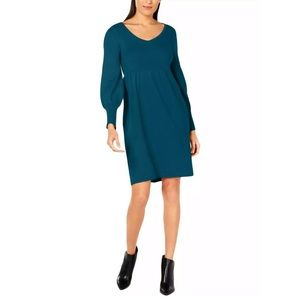 New NY Collection lantern sleeves sweater dress PS